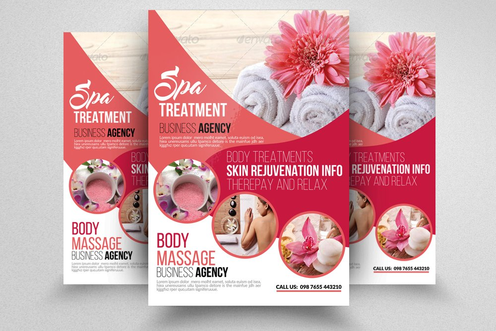 Spa Flyer Photos Graphics Fonts Themes Templates Creative Market