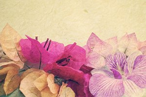 mix flowers in vintage style