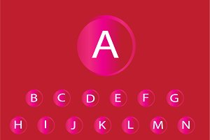 neon buttons font pink color vector