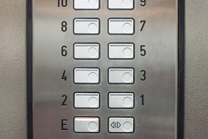 Lift keypad detail