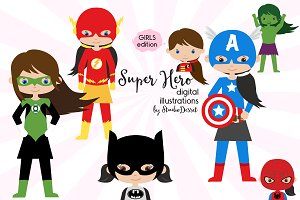 Superhero Girls - Character Cliparts