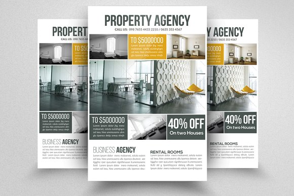 real estate property flyer flyer templates creative market