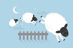 counting sheep vector