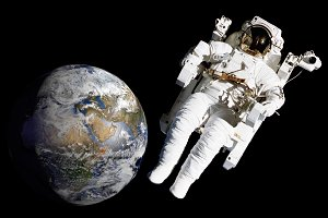 Astronaut spacewalk mission