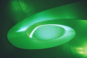 Green Abstract Architecture