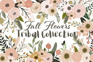 Fall Flowers Tribal Collection