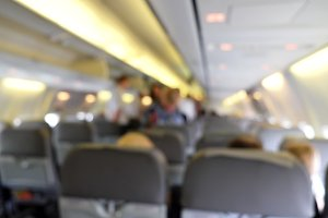 Blurred background of cabin aircraft