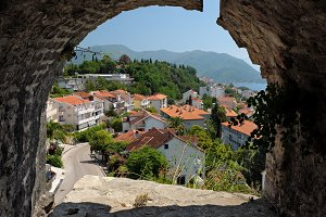 View town Herceg Novi from fortress