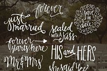 Hand Lettered Wedding Overlays