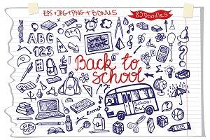 Back to School. Big Doodle set