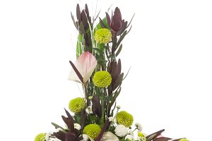 Floral arrangement isolated on white