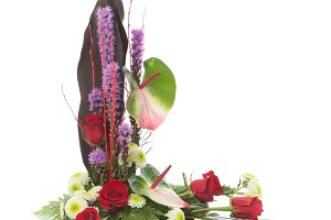 Floral arrangement isolated