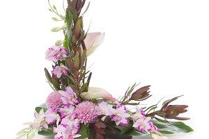 Floral arrangement with orchids