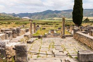Roman ruins in Volubilis in Morocco