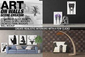 Canvas Mockups - Frames Mockups v 5