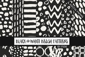 Black and white brush patterns