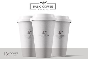 13 Basic Coffee Mockups