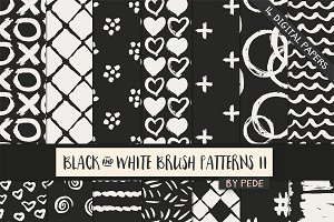 Black and white brush patterns II