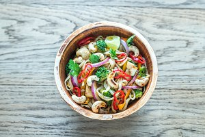 Chicken noodle stir-fry