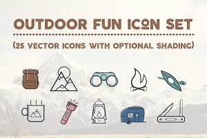 Outdoor Fun Icon Set