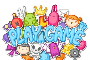 Game kawaii designs.