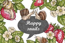 Happy snails (marker collection)