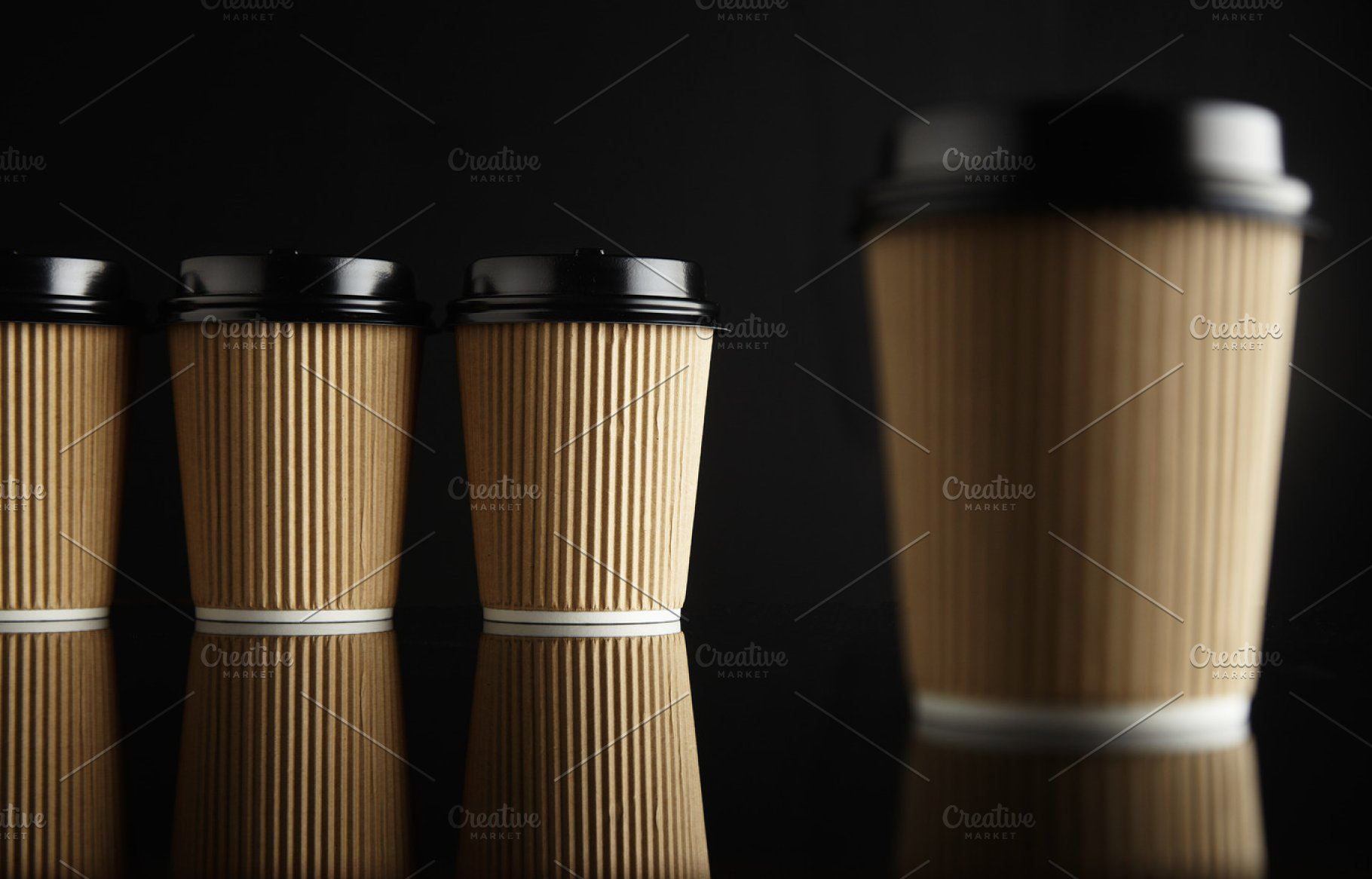 bef07e3464a Brown takeaway coffee cup mockups ~ Business Photos ~ Creative Market