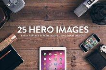 25 Header/Hero images - Wood series