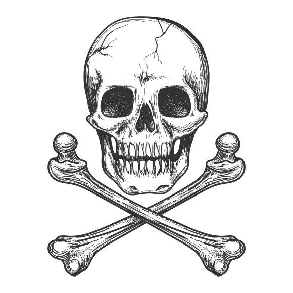 Skull and crossbones ~ Graphics ~ Creative Market
