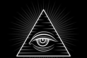 Omniscience All seeing eye symbol