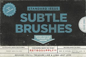 Standard Issue Subtle Brushes