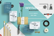 Invitation Greeting Card Mockups 5x7