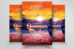 Summer Sunday Party Flyer