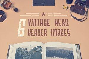 6 Vinage Hero Header Images + Bonus