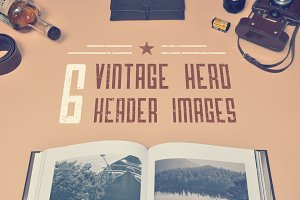 6 Vinage Hero Header Images + Bonus