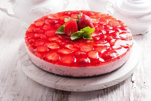 The  Strawberry cake