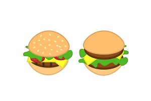 Burger icons. Vector