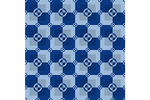 Blue seamless pattern. Vector