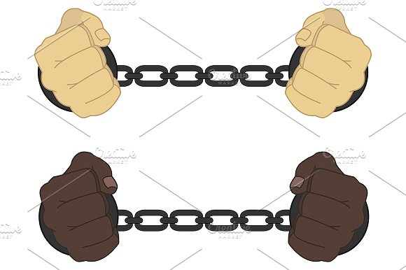 Male hands in handcuffs. Vector - Illustrations