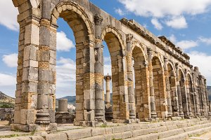 Roman ruins at Volubilis in Morocco