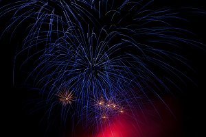 Night fireworks