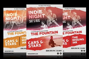 Indie Night Music Poster Template