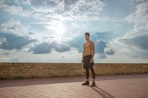 shirtless fit fitness model man pose