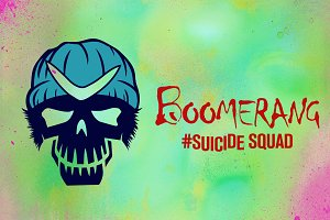 Boomerang Suicide Squad Vector Icon