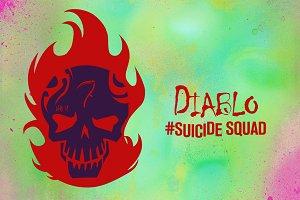 Diablo Suicide Squad Vector Icon