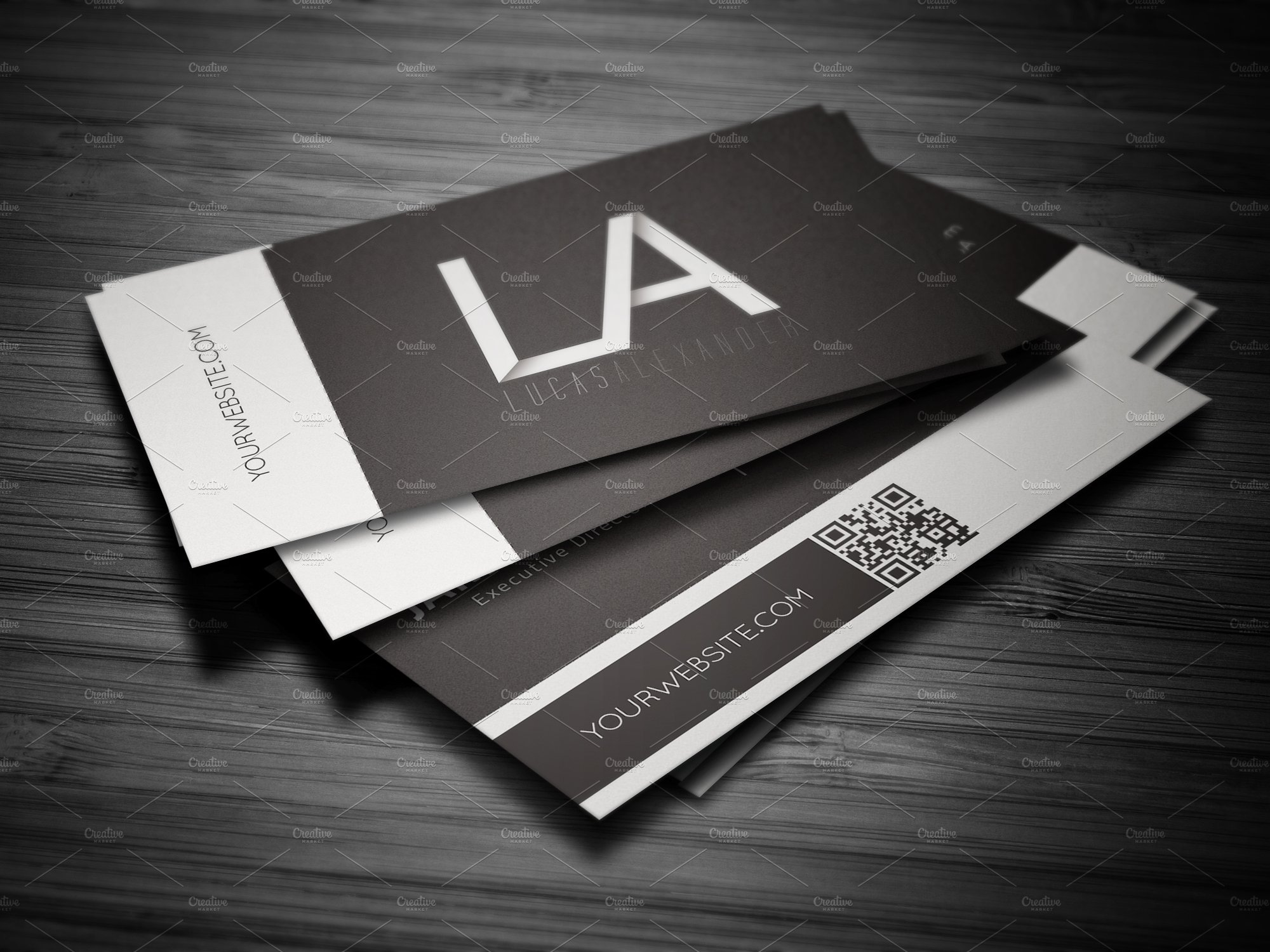 White Line Business Card ~ Business Card Templates ~ Creative Market