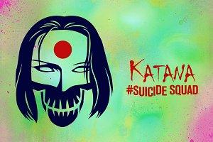 Katana Suicide Squad Vector Icon