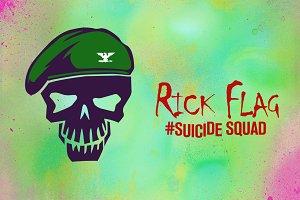 Rick Flag Suicide Squad Vector Icon
