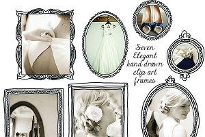 Elegant Hand Drawn Doodle Frames