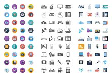 Devices icons set.